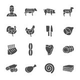 Butchery icons Royalty Free Stock Image