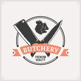 Butchery Label Template Stock Image