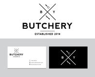 Butchery logo Royalty Free Stock Images