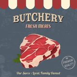 Butchery poster in retro style Royalty Free Stock Image