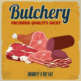 Butchery retro poster Stock Photography