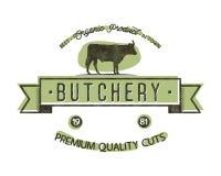 Butchery Shop vintage emblem. Butchery store Logo template retro style. Vintage design for logotype, label, t shirt, tee Stock Image