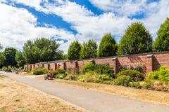 Bute park i Taff rzeka, Cardiff, Walia, UK Zdjęcia Royalty Free