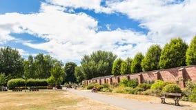Bute park i Taff rzeka, Cardiff, Walia, UK Zdjęcia Stock