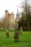 Bute park whit castle in background, Cardiff. Stock Photography