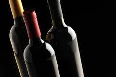 butelek grupy wino Zdjęcia Stock