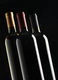 butelek grupy wino Zdjęcie Stock