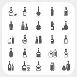 Butelek ikony ustawiać Fotografia Royalty Free