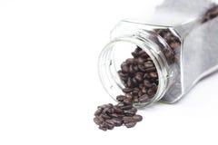 Butelek kawowych fasoli kubek Zdjęcie Royalty Free