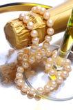 butelek perły szampańskie szklane Fotografia Royalty Free
