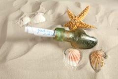 butelek powitania Zdjęcie Stock