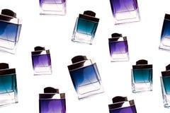 butelek wzoru pachnidło bezszwowy Obraz Royalty Free