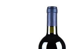 Buteljera av fin italiensk rött vin Arkivfoton