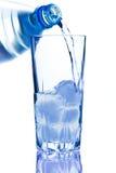 buteljerad blue Arkivfoto