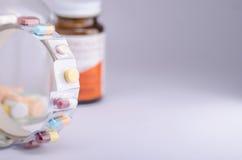Buteljerade mediciner Arkivbild