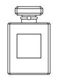 butelkę perfum siatek ciągnącego wektor ilustracyjny Obraz Stock