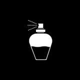 butelkę perfum siatek ciągnącego wektor ilustracyjny Eps-10 Zdjęcia Royalty Free