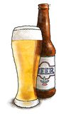 butelkę piwa Obrazy Stock