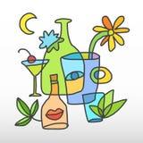 Butelka abstrakt ilustracji