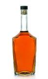 Butelka brandy na białym tle Fotografia Stock