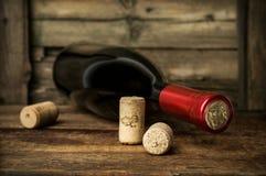 Butelka czerwone wino Obraz Royalty Free