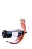 Butelka czerwone wino Fotografia Stock