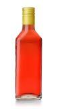 Butelka czerwonego winogrona ocet obraz stock