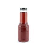 Butelka czerwony ciecz Zdjęcie Stock