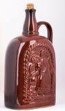 Butelka dla wina robić piec glina Zdjęcie Stock