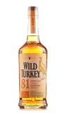 Butelka Dziki Indyczy Kentucky bourbonu prosty whisky Zdjęcie Royalty Free