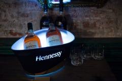 Butelka Francuski koniak Hennessy V S O P Zdjęcie Stock