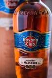 Butelka Hawański Świetlicowy rum Zdjęcia Royalty Free