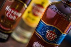 Butelka Hawański Świetlicowy rum Fotografia Stock