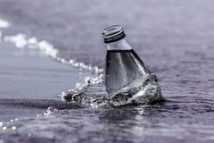 Butelka i morze Fotografia Stock