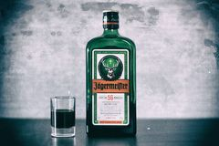 Butelka Jagermeister od above Obrazy Royalty Free