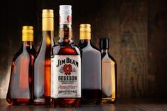Butelka Jim promienia bourbon zdjęcie stock
