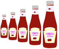 butelka ketchup Zdjęcie Royalty Free