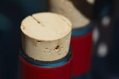 Butelka korki na butelkach Obrazy Stock