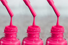 Butelka laka dla paznokci Kobiety ` s akrylowa farba, gel farba dla gwoździ Lac mieszający kolory dla paznokci Opieka dla wome Zdjęcie Stock