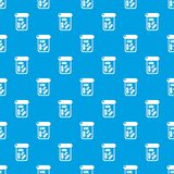 Butelka leka wzoru wektorowy bezszwowy błękit royalty ilustracja