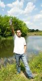 butelka mężczyzna Zdjęcia Stock