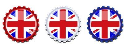 butelka nakrywa dźwigarki zjednoczenie Obrazy Royalty Free