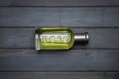 Butelka pakunek popielaty szef Butelkował woń dla mężczyzna Hugo Boss Obraz Royalty Free