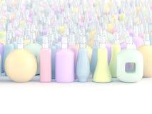 Butelka pastelowy kolor ilustracja wektor