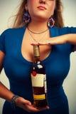 Butelka rum fotografia royalty free