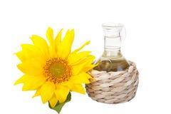 Butelka słonecznikowy olej obraz royalty free