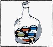 butelka samochody Obrazy Stock