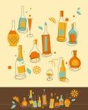 butelka set royalty ilustracja