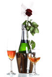 butelka szampan zdjęcia stock