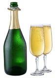 butelka szampan chłodził Obrazy Royalty Free